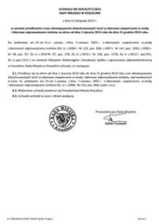 Uchwała Rady Miejskiej w Koszalinie nr XXXVII/571/2013