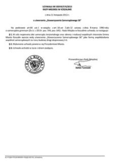 Uchwała Rady Miejskiej w Koszalinie nr XXXVII/574/2013