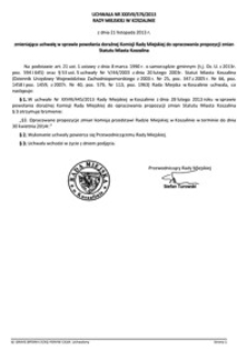 Uchwała Rady Miejskiej w Koszalinie nr XXXVII/576/2013
