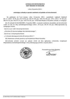 Uchwała Rady Miejskiej w Koszalinie nr XXXVIII/580/2013