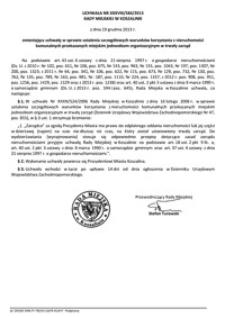 Uchwała Rady Miejskiej w Koszalinie nr XXXVIII/584/2013