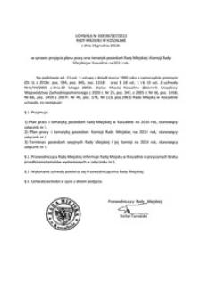 Uchwała Rady Miejskiej w Koszalinie nr XXXVIII/587/2013