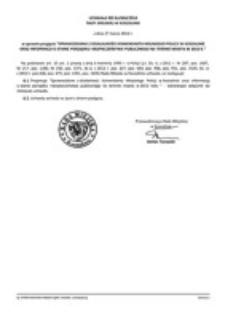 Uchwała Rady Miejskiej w Koszalinie nr XLI/604/2014