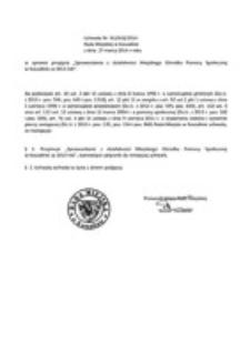 Uchwała Rady Miejskiej w Koszalinie nr XLI/618/2014