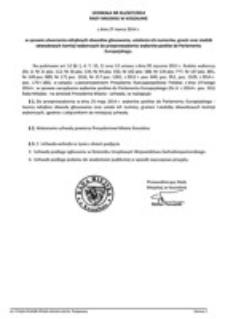 Uchwała Rady Miejskiej w Koszalinie nr XLI/627/2014