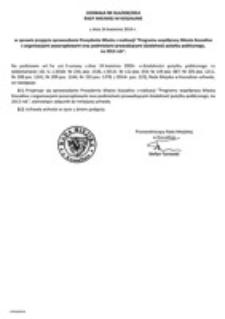 Uchwała Rady Miejskiej w Koszalinie nr XLII/630/2014