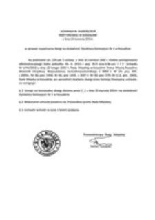 Uchwała Rady Miejskiej w Koszalinie nr XLII/639/2014