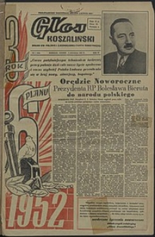 Głos Koszaliński. 1952, styczeń, nr 1