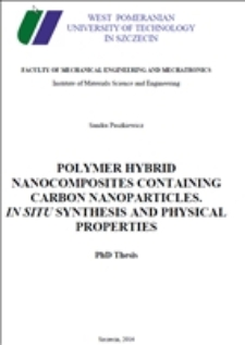 Polymer hybrid nanocomposites containing carbon nanoparticles. In situ synthesis and physical properties