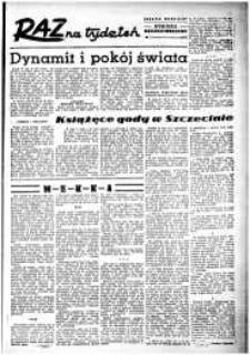 Raz na Tydzień : dodatek niedzielny Kuriera Szczecińskiego. R.2, 1947 nr 7