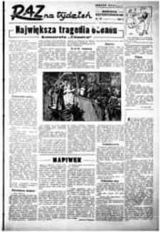 Raz na Tydzień : dodatek niedzielny Kuriera Szczecińskiego. R.2, 1947 nr 10