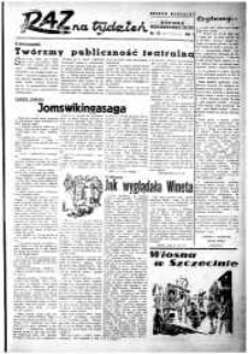 Raz na Tydzień : dodatek niedzielny Kuriera Szczecińskiego. R.2, 1947 nr 13