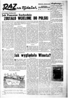 Raz na Tydzień : dodatek niedzielny Kuriera Szczecińskiego. R.2, 1947 nr 14