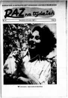 Raz na Tydzień : dodatek niedzielny Kuriera Szczecińskiego. R.2, 1947 nr 21