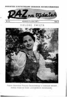 Raz na Tydzień : dodatek niedzielny Kuriera Szczecińskiego. R.2, 1947 nr 22
