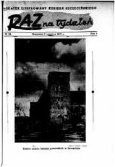 Raz na Tydzień : dodatek niedzielny Kuriera Szczecińskiego. R.2, 1947 nr 24