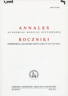 Annales Academiae Medicae Stetinensis = Roczniki Pomorskiej Akademii Medycznej w Szczecinie. 2013, 59, 2
