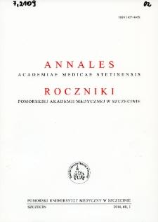 Annales Academiae Medicae Stetinensis = Roczniki Pomorskiej Akademii Medycznej w Szczecinie. 2014, 60, 1