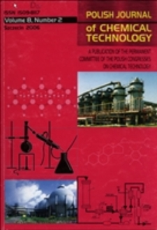 Polish Journal of Chemical Technology : a publication of the Permanent Committee of the Polish Congresses on Chemical Technology