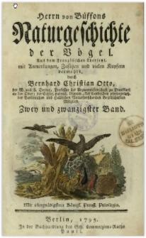 Naturgeschichte der Vögel. Bd. 22