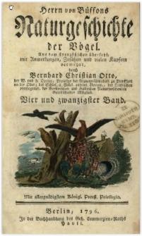 Naturgeschichte der Vögel. Bd. 24