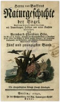 Naturgeschichte der Vögel. Bd. 25