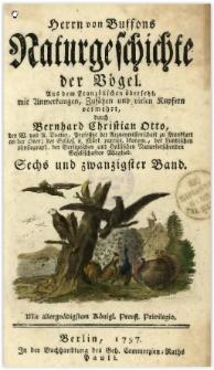 Naturgeschichte der Vögel. Bd. 26