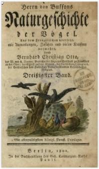 Naturgeschichte der Vögel. Bd. 30