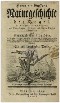 Naturgeschichte der Vögel. Bd. 31
