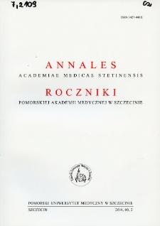 Annales Academiae Medicae Stetinensis = Roczniki Pomorskiej Akademii Medycznej w Szczecinie. 2014, 60, 2