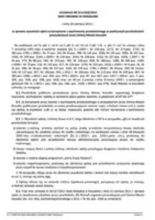 Uchwała Rady Miejskiej w Koszalinie nr XLV/658/2014