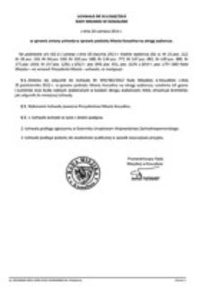 Uchwała Rady Miejskiej w Koszalinie nr XLV/668/2014
