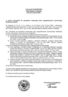 Uchwała Rady Miejskiej w Koszalinie nr XLVIII/687/2014