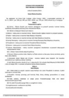 Uchwała Rady Miejskiej w Koszalinie nr XLVIII/688/2014