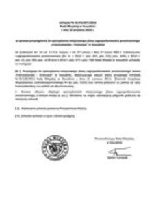 Uchwała Rady Miejskiej w Koszalinie nr XLVIII/697/2014