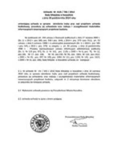 Uchwała Rady Miejskiej w Koszalinie nr XLIX/706/2014