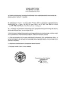 Uchwała Rady Miejskiej w Koszalinie nr XLIX/711/2014
