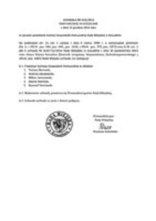 Uchwała Rady Miejskiej w Koszalinie nr III/6/2014