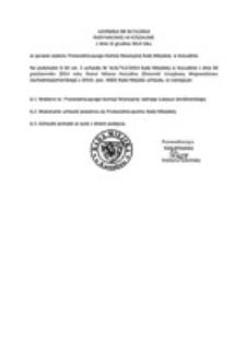 Uchwała Rady Miejskiej w Koszalinie nr III/15/2014