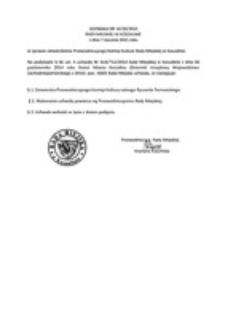 Uchwała Rady Miejskiej w Koszalinie nr IV/20/2015