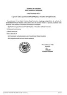 Uchwała Rady Miejskiej w Koszalinie nr V/32/2015