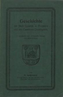 Geschichte der Stadt Cammin i. Pommern und des Camminer Domkapitels