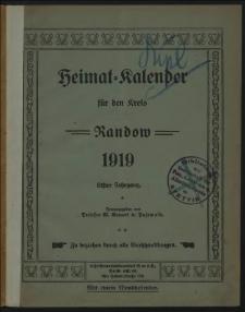 Heimat = Kalender für den Kreis Randow. 1919