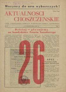 Aktualności Choszczeńskie : pismo Powiatowego Komitetu Wyborczego Frontu Narodowego. 1952 nr 5