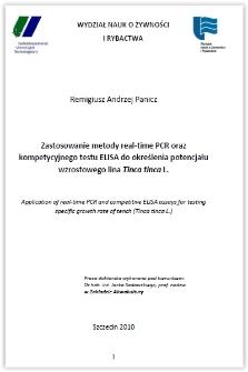 Zastosowanie metody real-time PCR oraz kompetycyjnego testu ELISA do określania potencjału wzrostowego lina Tinca tinca L.