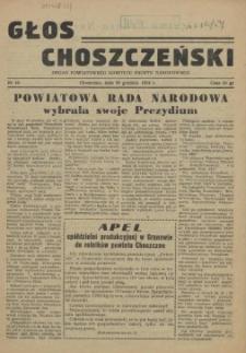 Głos Choszczeński : organ Powiatowego Komitetu Frontu Narodowego. 1954 nr 10