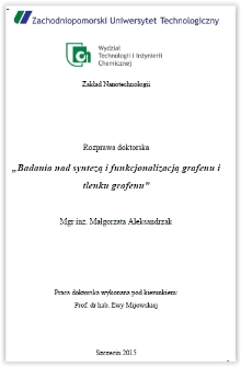 Badania nad syntezą i funkcjonalizacją grafenu i tlenku grafenu