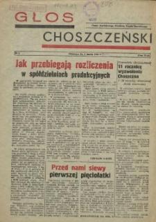 Głos Choszczeński : organ Powiatowego Komitetu Frontu Narodowego. 1956 nr 1