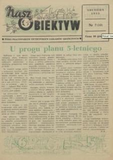 Nasz Obiektyw : pismo pracowników Szczecińskich Zakładów Graficznych. 1955 nr 7