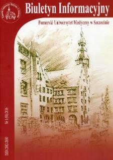 Biuletyn Informacyjny - Pomorski Uniwersytet Medyczny w Szczecinie. Nr 1 (91), 2016